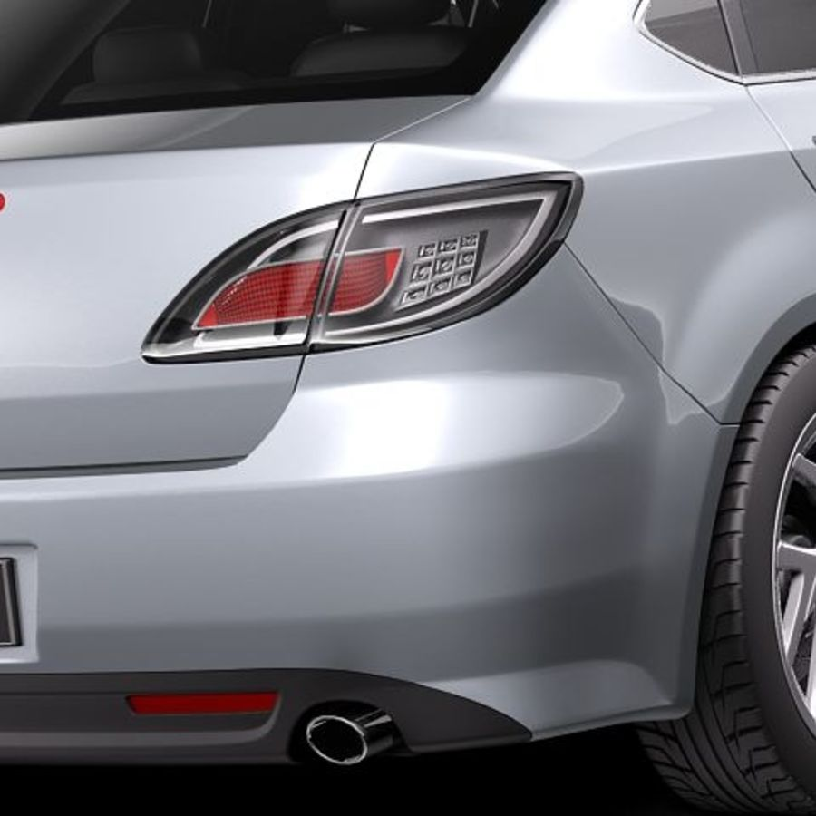 Mazda 6 Limousine 2011 royalty-free 3d model - Preview no. 4