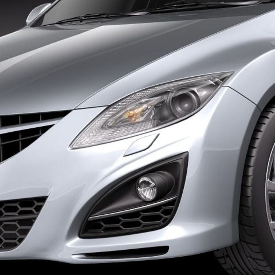 Mazda 6 Limousine 2011 royalty-free 3d model - Preview no. 3