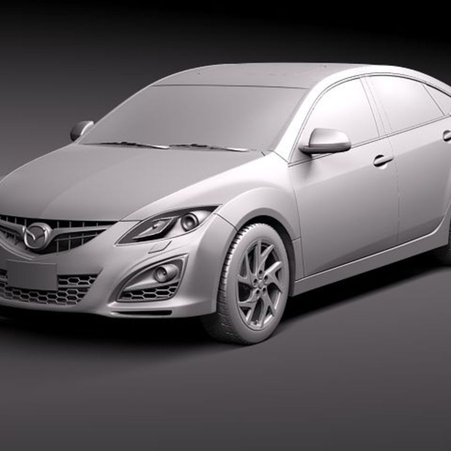 Mazda 6 Limousine 2011 royalty-free 3d model - Preview no. 9