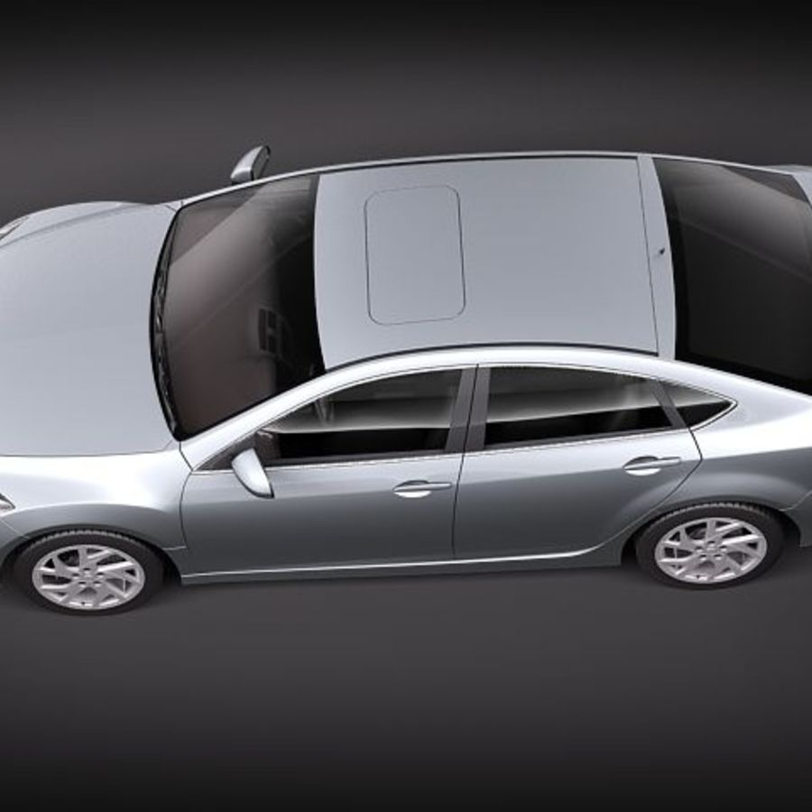Mazda 6 Limousine 2011 royalty-free 3d model - Preview no. 8