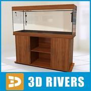 Wall empty aquarium 03 by 3DRivers 3d model