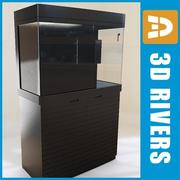 Muur leeg aquarium 02 door 3DRivers 3d model