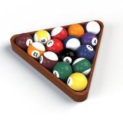 Pool Balls 001 3d model