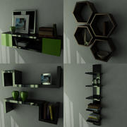 Cool Designer Shelves 3d model