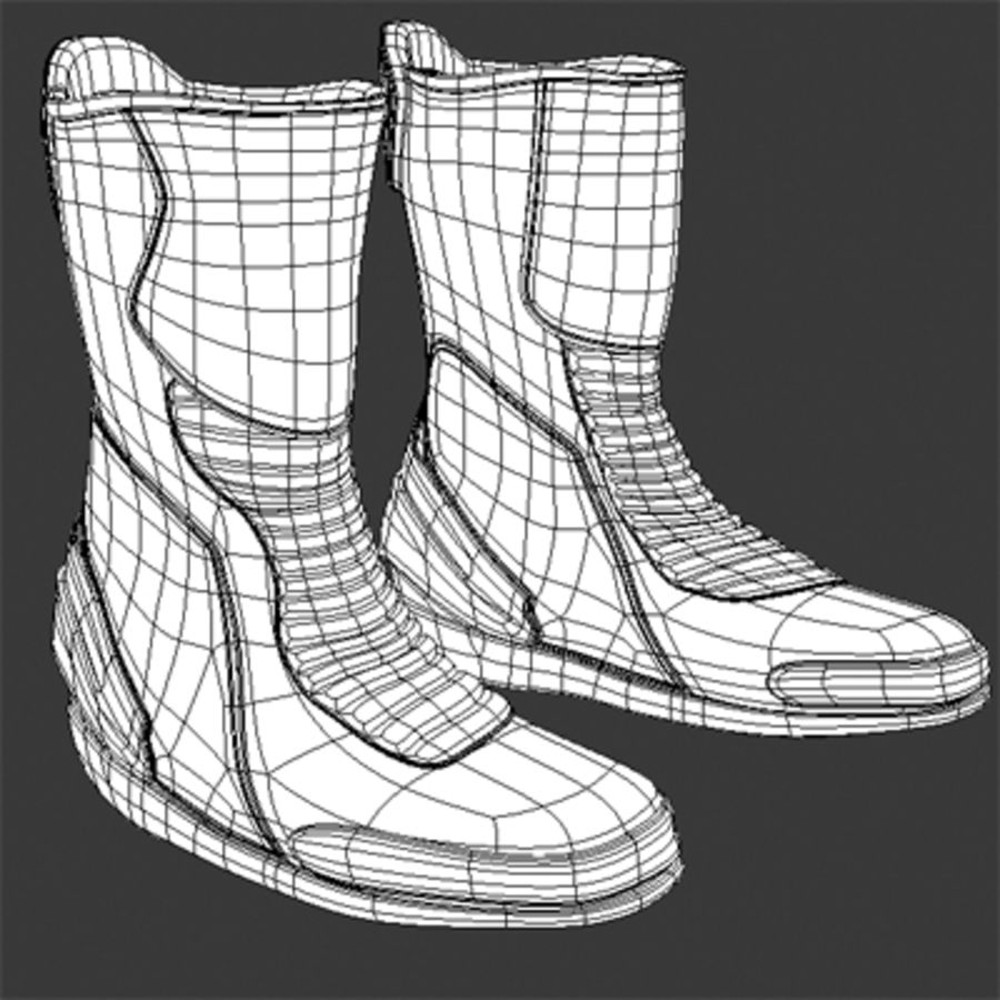 Combat Boot royalty-free 3d model - Preview no. 6