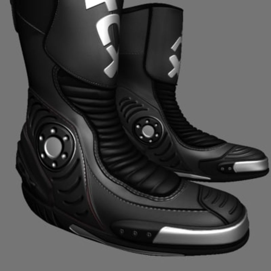 Combat Boot royalty-free 3d model - Preview no. 7