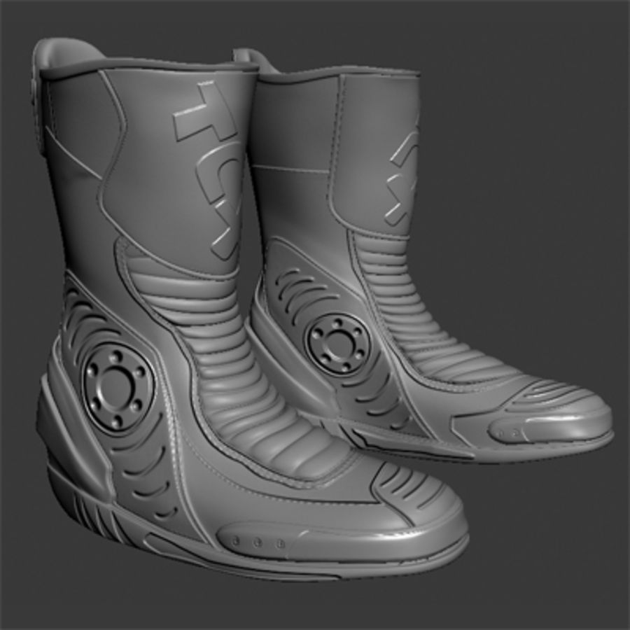 Combat Boot royalty-free 3d model - Preview no. 4