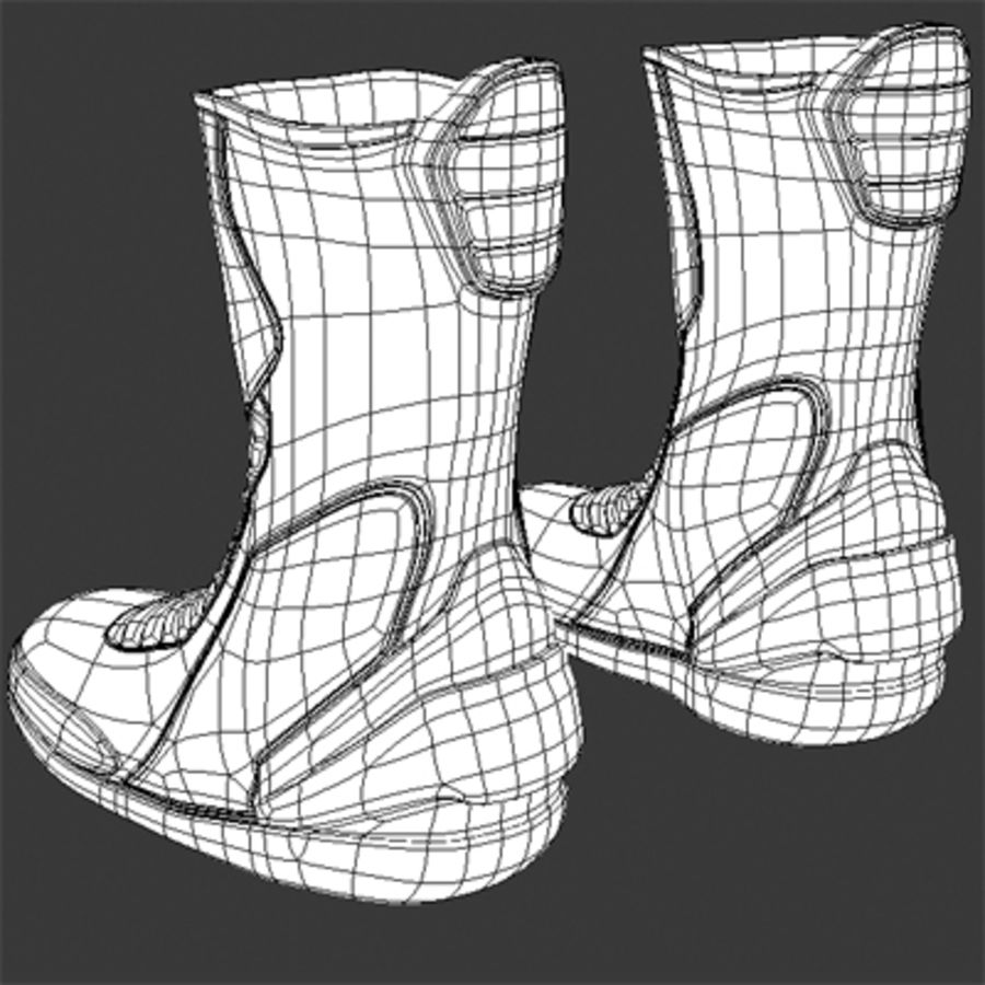 Combat Boot royalty-free 3d model - Preview no. 5