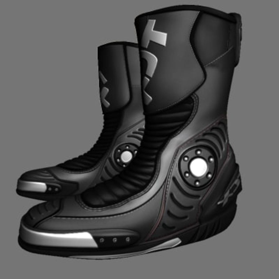 Combat Boot royalty-free 3d model - Preview no. 8