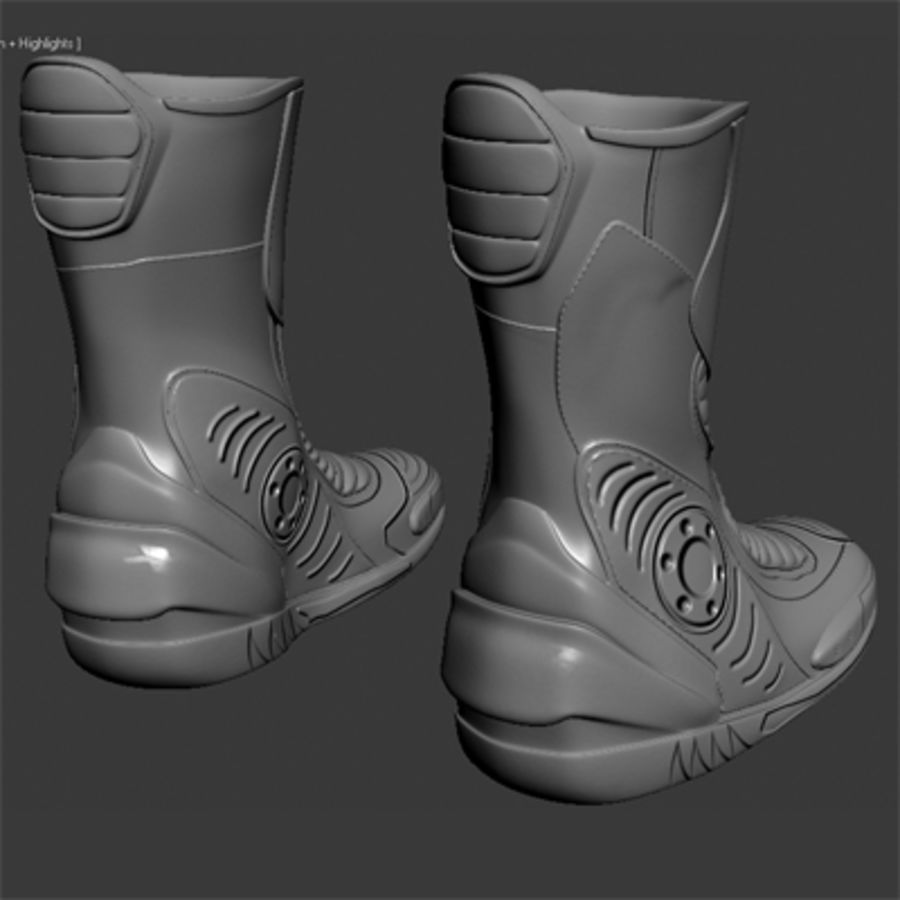 Combat Boot royalty-free 3d model - Preview no. 3