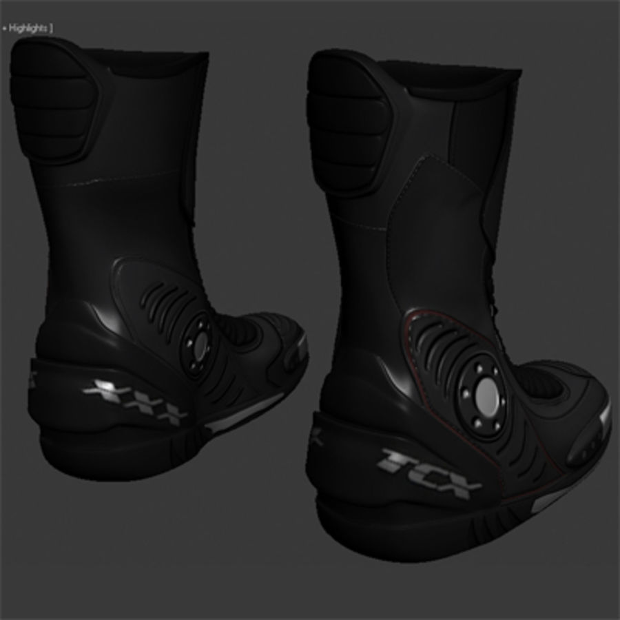 Combat Boot royalty-free 3d model - Preview no. 2