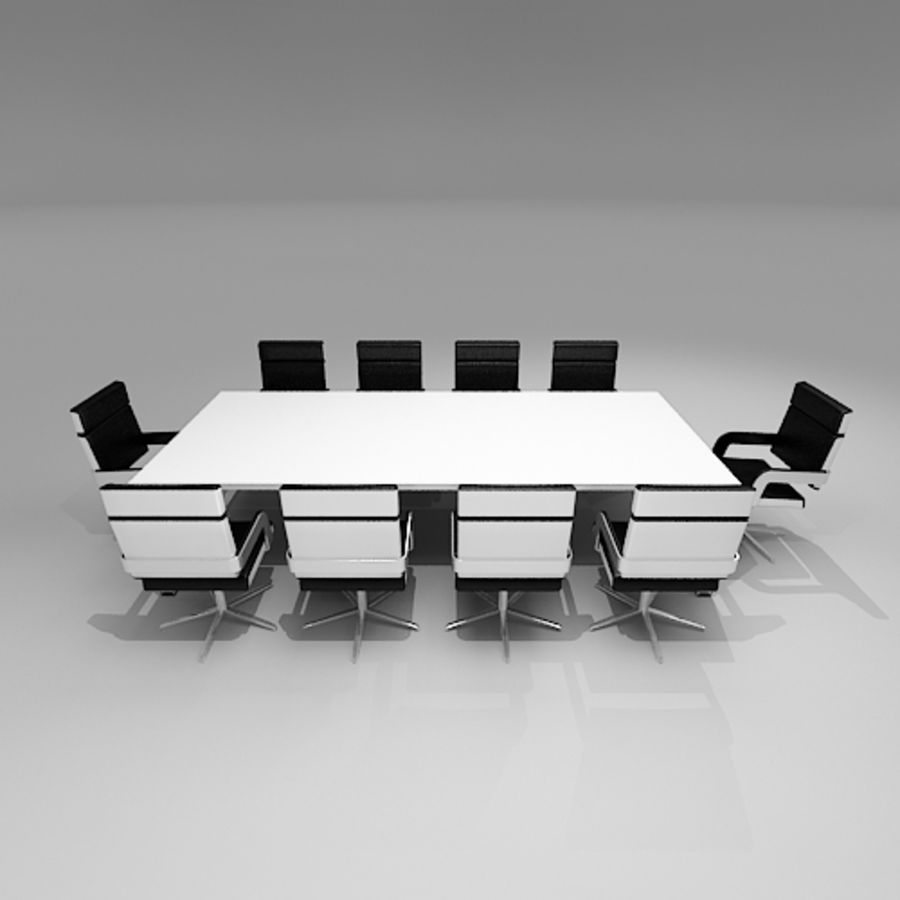 Meeting Room Furniture 06 royalty-free 3d model - Preview no. 4