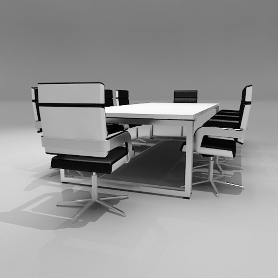 Meeting Room Furniture 06 royalty-free 3d model - Preview no. 2