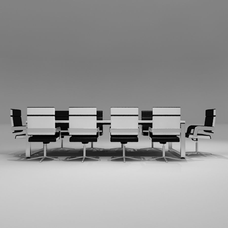 Meeting Room Furniture 06 royalty-free 3d model - Preview no. 5