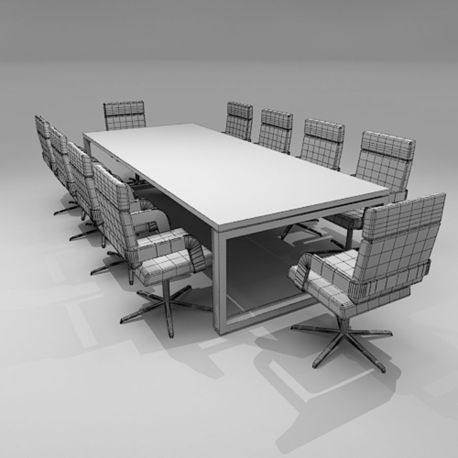 Meeting Room Furniture 06 royalty-free 3d model - Preview no. 6