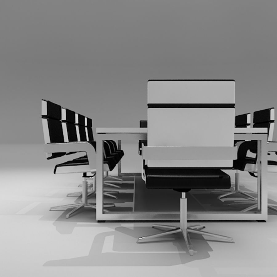 Meeting Room Furniture 06 royalty-free 3d model - Preview no. 3