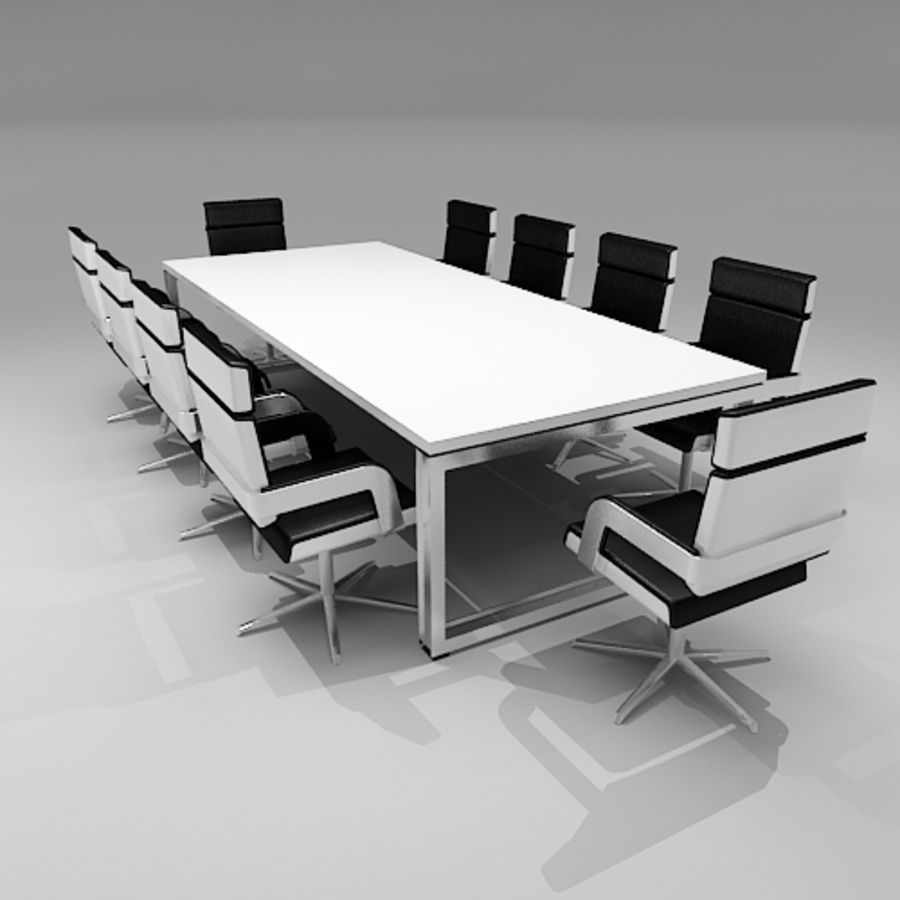 Meeting Room Furniture 06 royalty-free 3d model - Preview no. 1