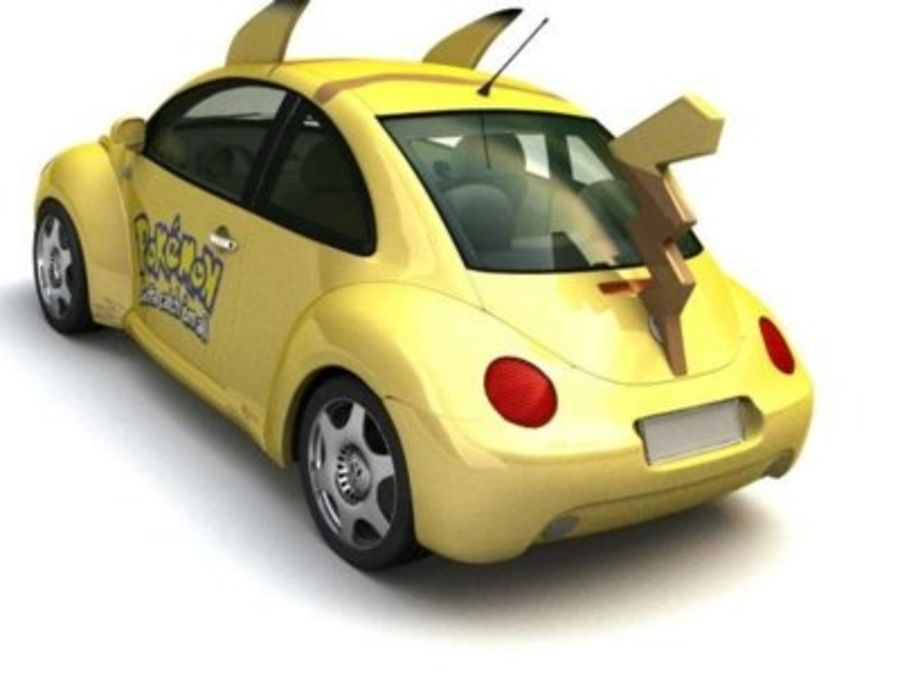 Volkswagen Pokemon royalty-free 3d model - Preview no. 4