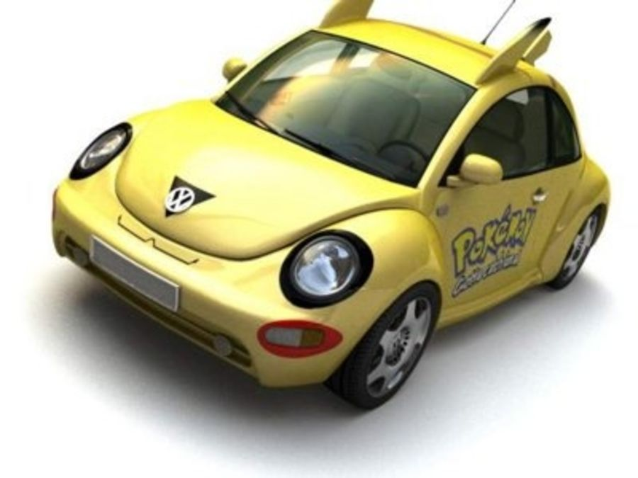 Volkswagen Pokemon royalty-free 3d model - Preview no. 1