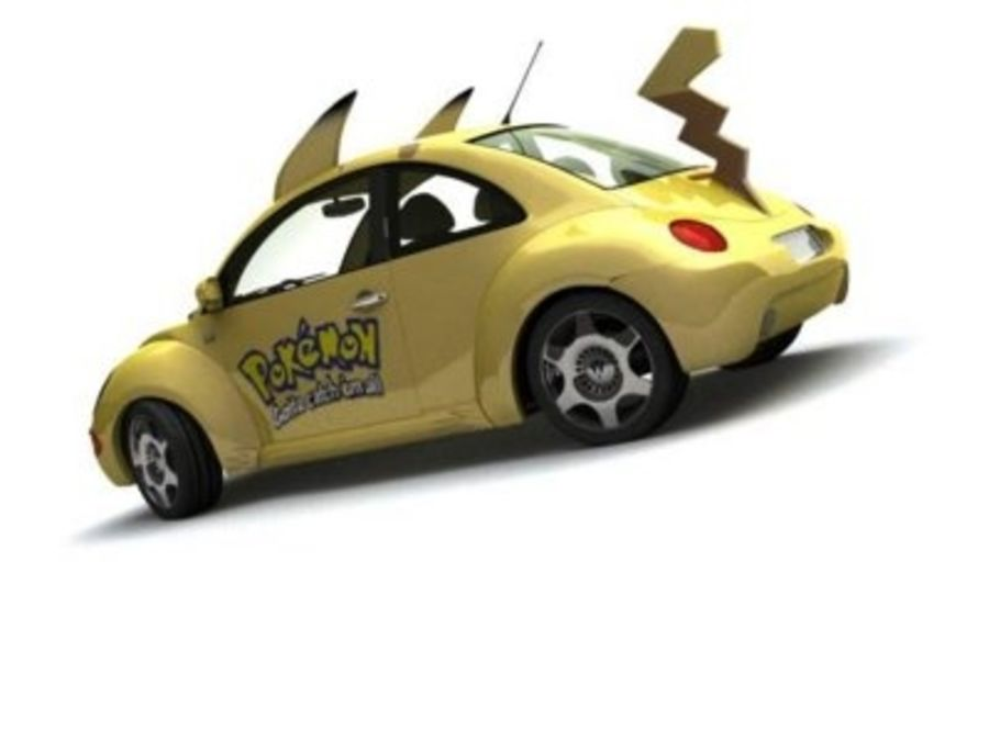 Volkswagen Pokemon royalty-free 3d model - Preview no. 6