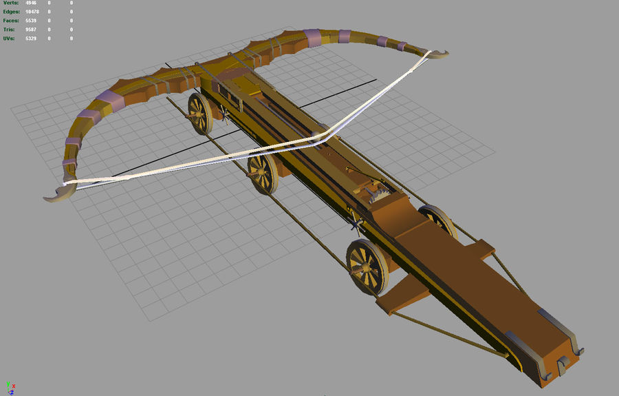 Mega-Armbrust royalty-free 3d model - Preview no. 7