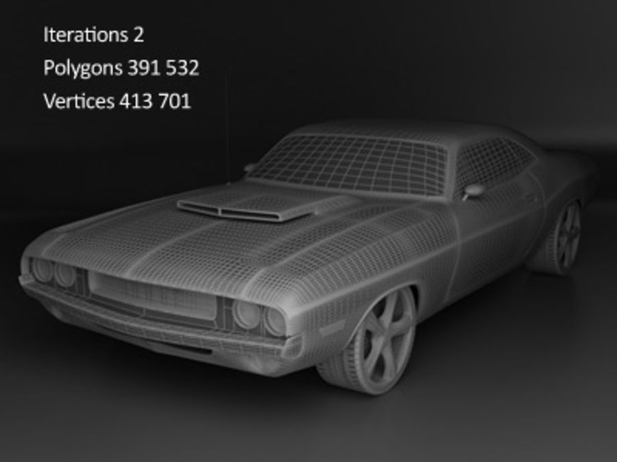 Dodge Challenger royalty-free 3d model - Preview no. 6