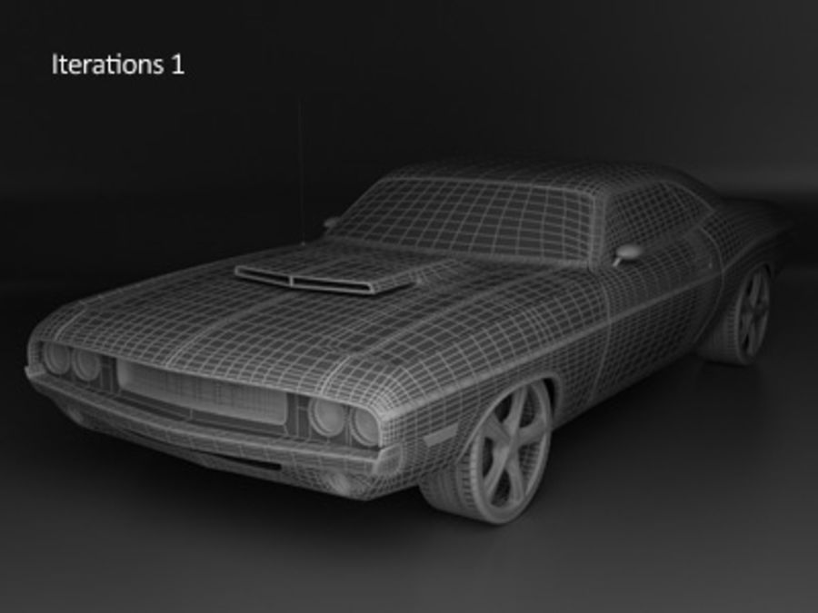 Dodge Challenger royalty-free 3d model - Preview no. 5
