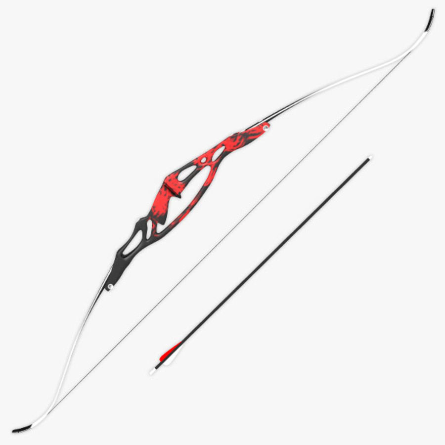 Olympic Recurve Bow royalty-free 3d model - Preview no. 1