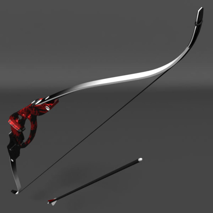Olympic Recurve Bow royalty-free 3d model - Preview no. 3
