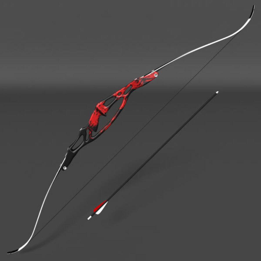 Arco Recurvo Olímpico royalty-free 3d model - Preview no. 2