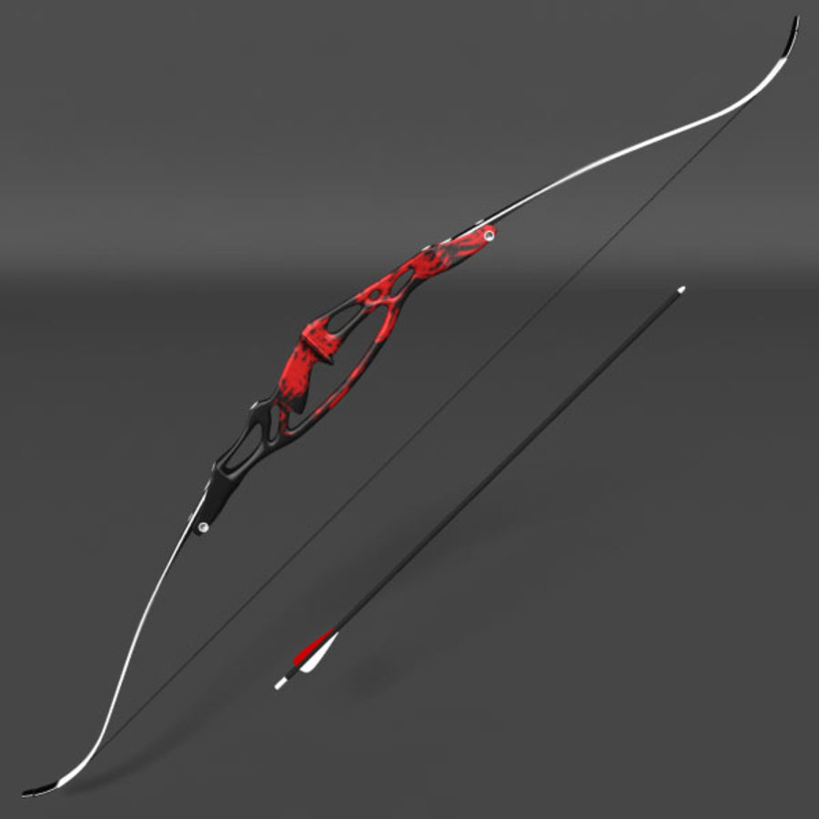 Olympic Recurve Bow royalty-free 3d model - Preview no. 2