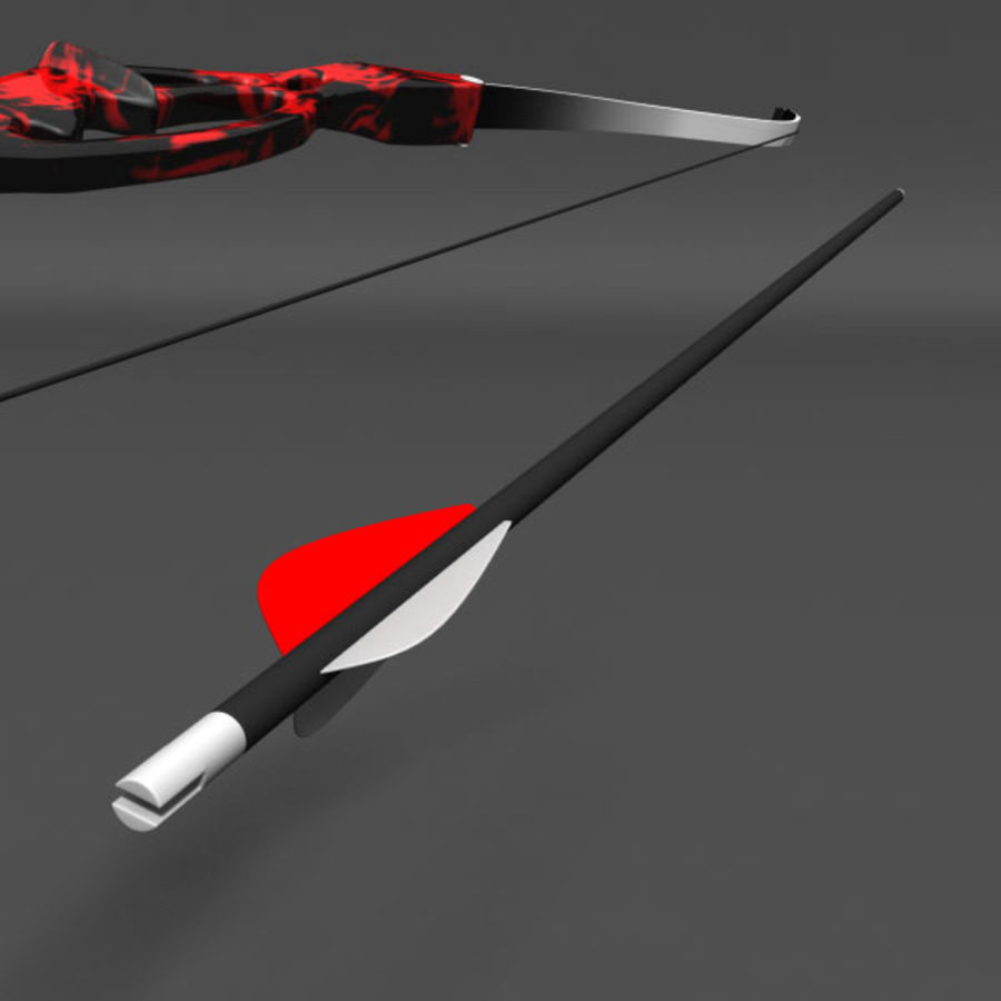 Olympic Recurve Bow royalty-free 3d model - Preview no. 4