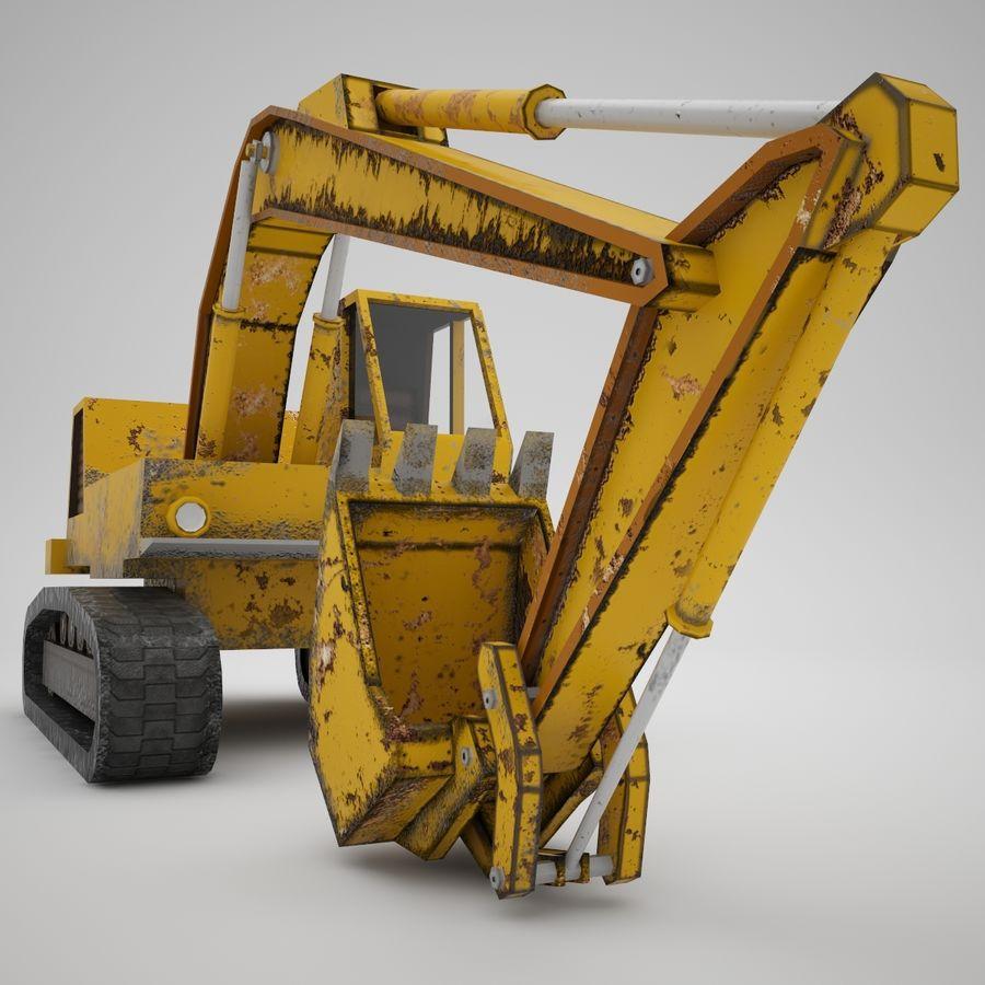 Crawler Excavator Atek-761 royalty-free 3d model - Preview no. 6