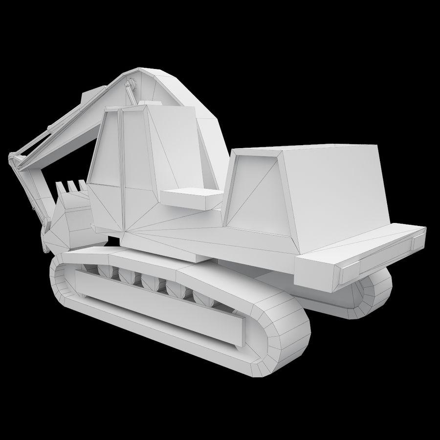 Crawler Excavator Atek-761 royalty-free 3d model - Preview no. 8