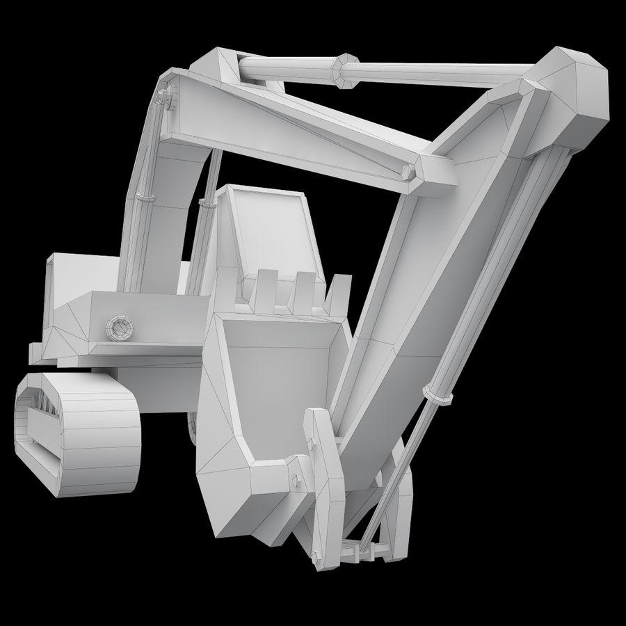 Crawler Excavator Atek-761 royalty-free 3d model - Preview no. 11
