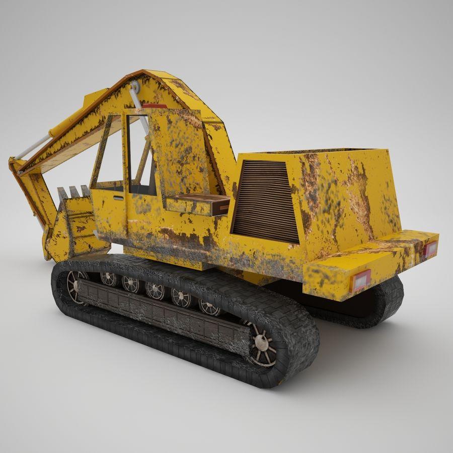Crawler Excavator Atek-761 royalty-free 3d model - Preview no. 3