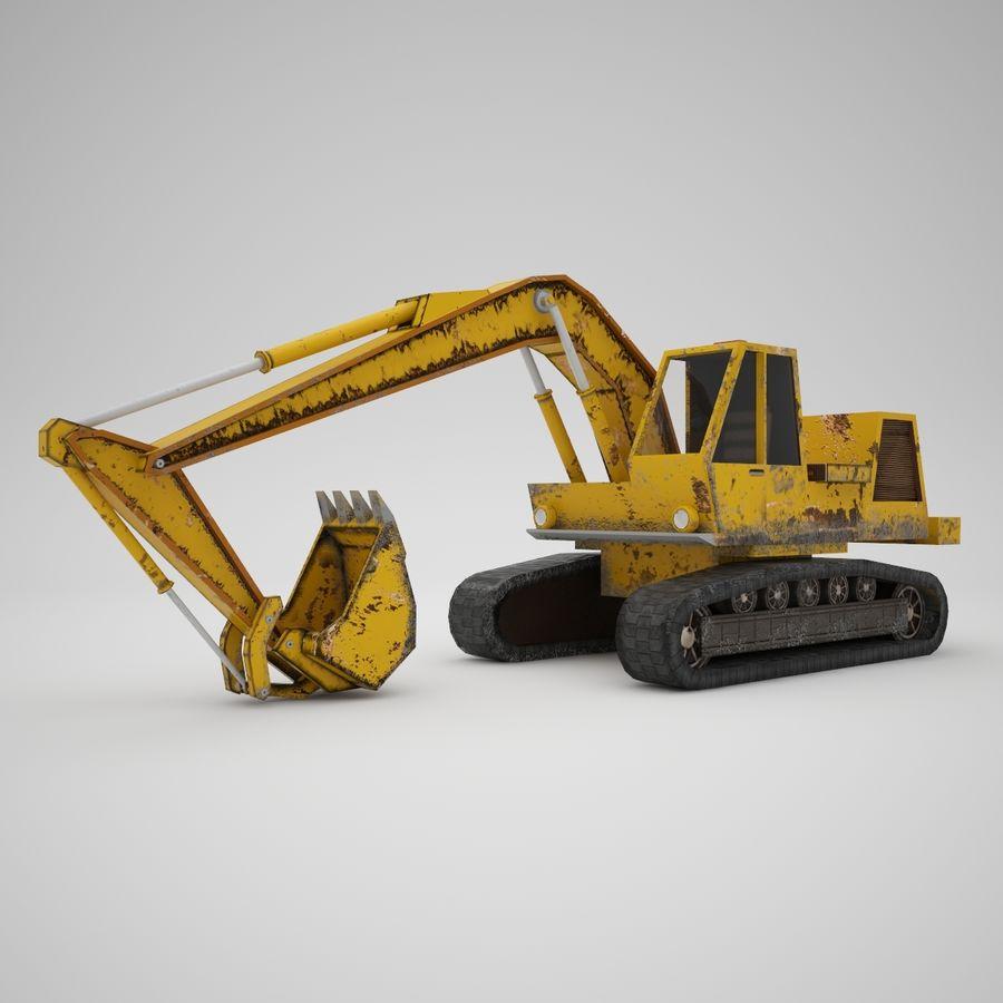 Crawler Excavator Atek-761 royalty-free 3d model - Preview no. 2