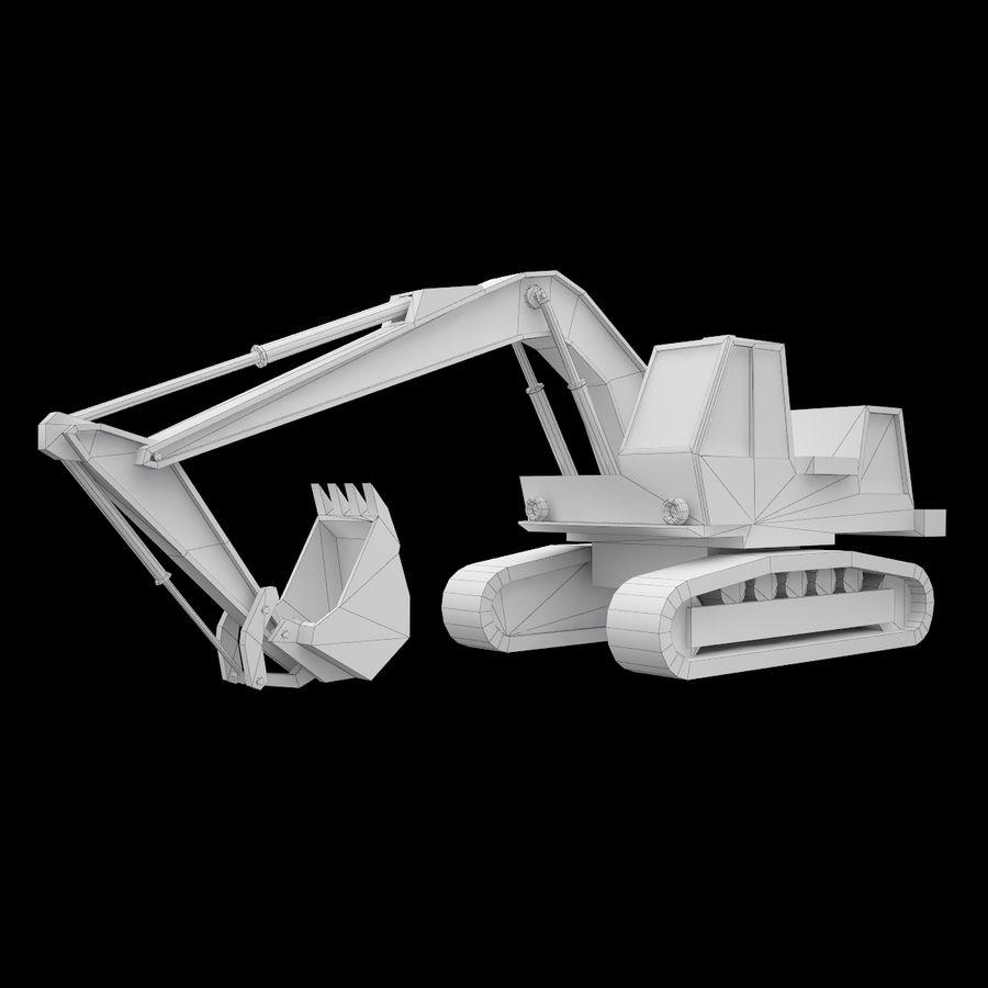Crawler Excavator Atek-761 royalty-free 3d model - Preview no. 7