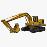 Crawler Excavator Atek-761 3d model