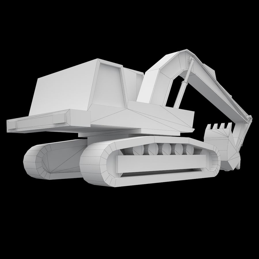 Crawler Excavator Atek-761 royalty-free 3d model - Preview no. 10