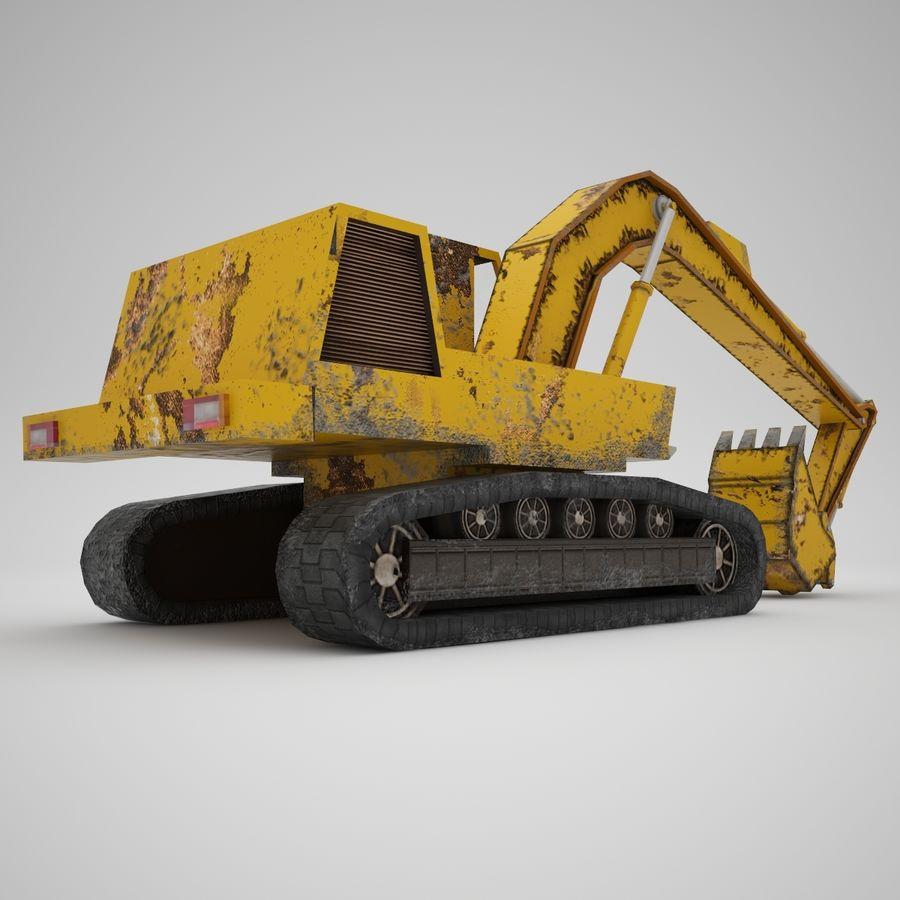 Crawler Excavator Atek-761 royalty-free 3d model - Preview no. 5
