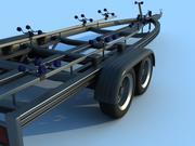 船拖车 3d model