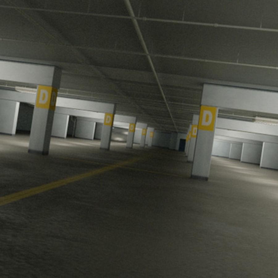 Garage Parking Underground + CAR 3D Model $49 -  max  fbx