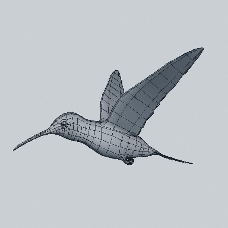Kolibri royalty-free 3d model - Preview no. 6