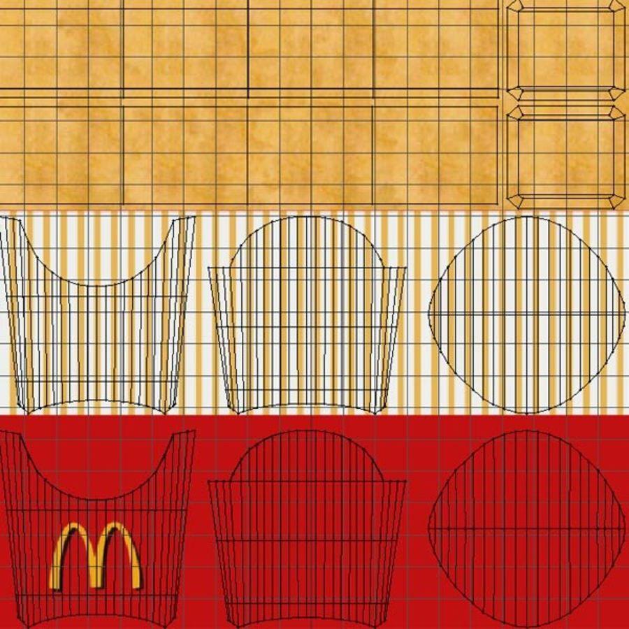 Patates kızartması royalty-free 3d model - Preview no. 9