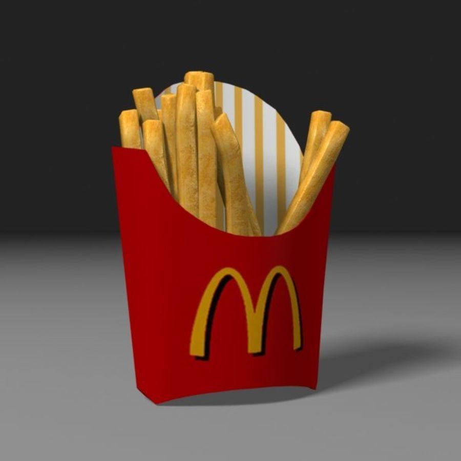 Patates kızartması royalty-free 3d model - Preview no. 2