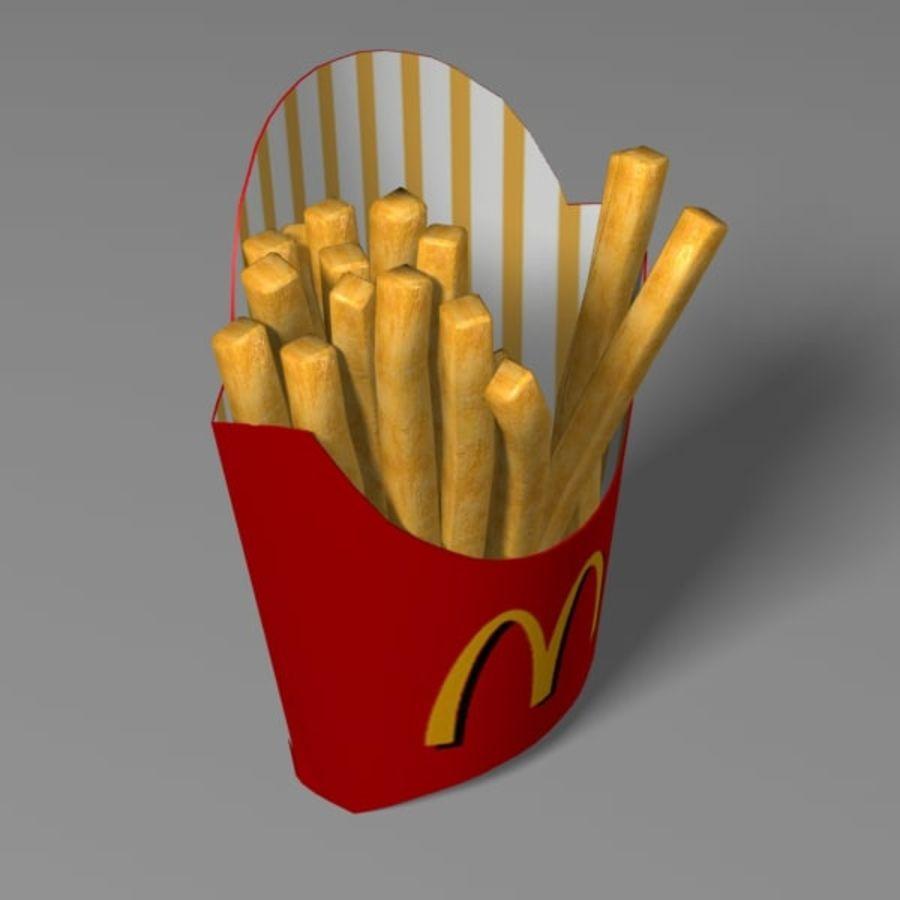 Patates kızartması royalty-free 3d model - Preview no. 5