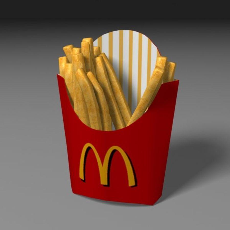 Patates kızartması royalty-free 3d model - Preview no. 3