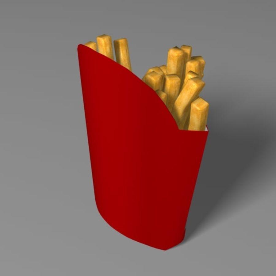 Patates kızartması royalty-free 3d model - Preview no. 4