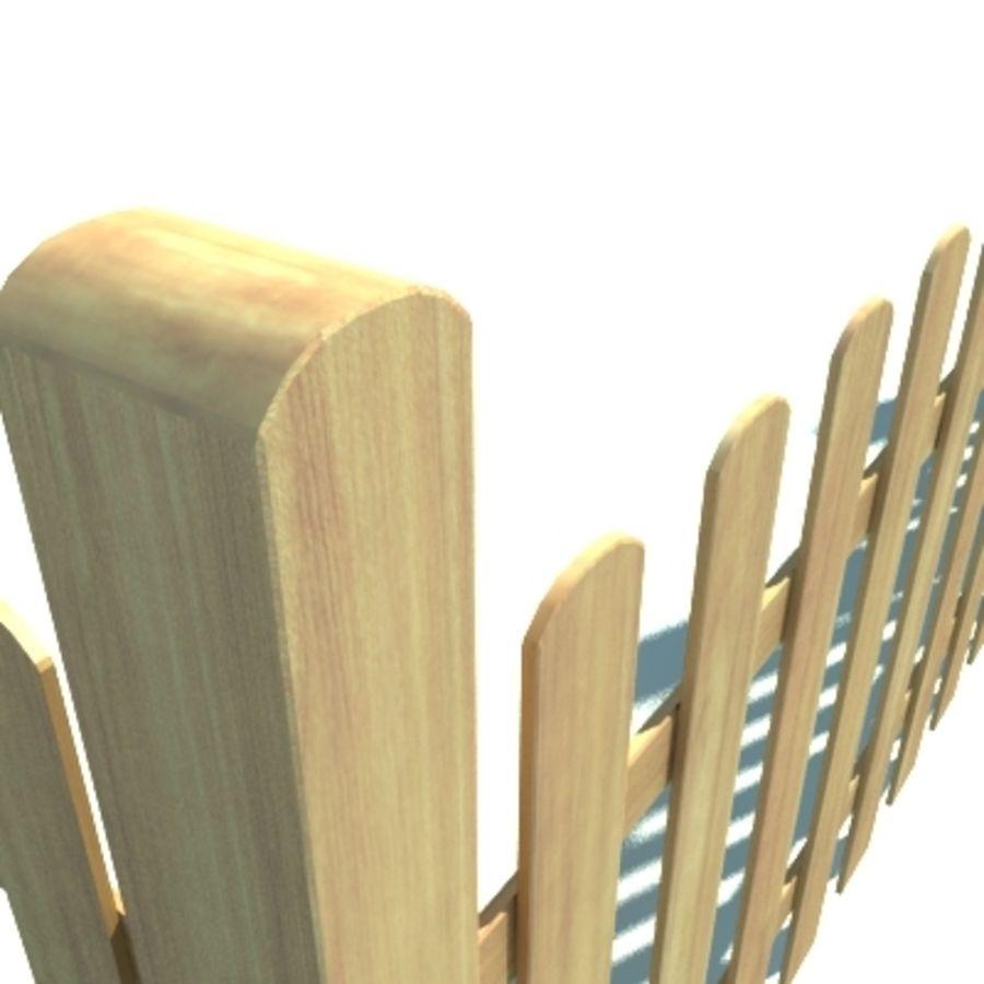 Drewniana kolekcja ogrodzeń royalty-free 3d model - Preview no. 4